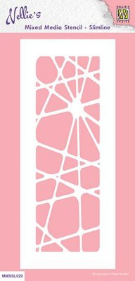 Nellie's Choice Mixed Media Stencils slimline Abstract MMSSL020 205x85mm (08-21)