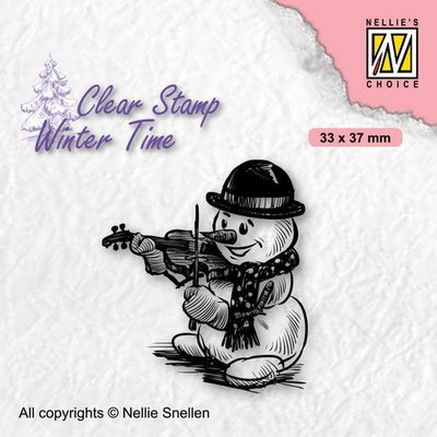 Nellie's Choice Clearstamp - Winter Time Sneeuwpop 5 WT009 33x37mm (08-21)