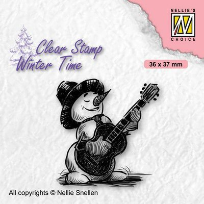 Nellie's Choice Clearstamp - Winter Time Sneeuwpop 4 WT008 36x37mm (08-21)