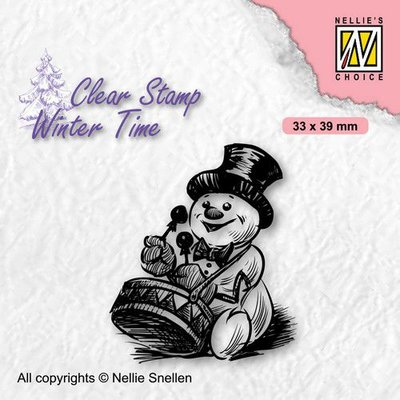Nellie's Choice Clearstamp - Winter Time Sneeuwpop 3 WT007 33x39mm (08-21)