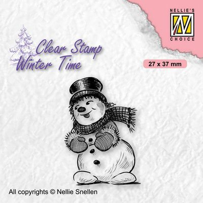 Nellie's Choice Clearstamp - Winter Time Sneeuwpop 2 WT006 27x37mm (08-21)