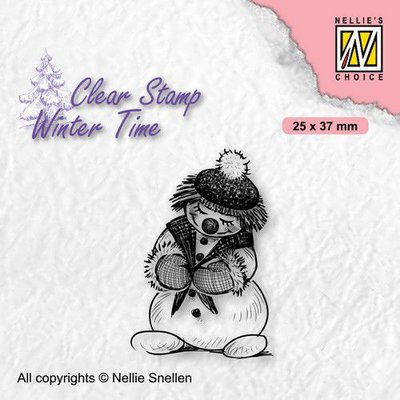Nellie's Choice Clearstamp - Winter Time Sneeuwpop 1 WT005 25x37mm (08-21)