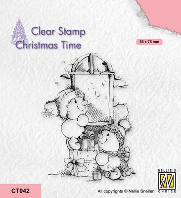 Nellie's Choice Clearstempel - Christmas time Cadeautjes CT042 55x75mm (08-21)