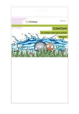 CraftEmotions ColorCard - kleurpapier voor markers wit 12 vl A4 - 250 gr (08-21)