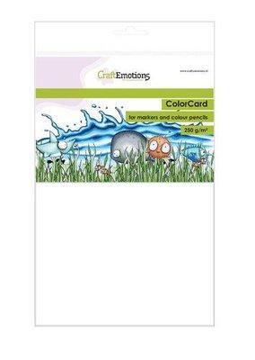 CraftEmotions ColorCard - kleurpapier voor markers wit 12 vl A5 - 250 gr (08-21)