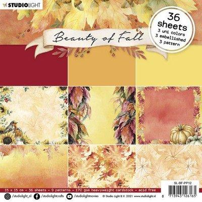 Studio Light Paper Pad Beauty of Fall nr.12 SL-BF-PP12 150x150mm (08-21)