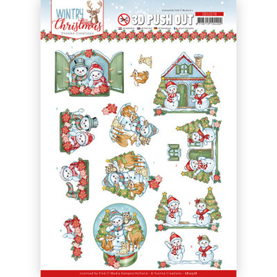SB10578 3D Push Out - Yvonne Creations - Wintry Christmas - Christmas Home