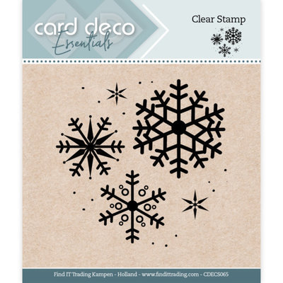 CDECS065 Card Deco Essentials - Clear Stamps - Snowflake