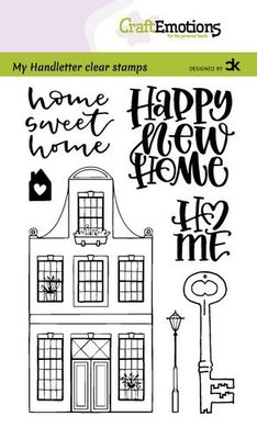 CraftEmotions clearstamps A6 - handletter - Nieuwe Woning 1 (Eng) Carla Kamphuis (08-21)