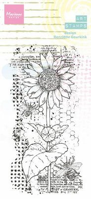 Marianne D Clear Stamps Art stamps - Zonnebloem MM1648 85x185mm (09-21)
