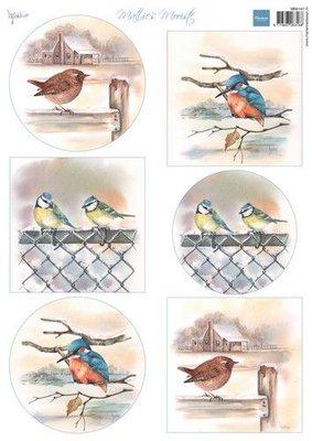 Marianne D Decoupage Mattie's Mooiste - Vogels in de winter MB0197 A4 (09-21)