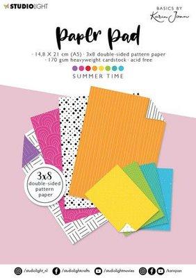 Studio Light Paper Pad Basics By Karin Joan nr.09 KJ-BBKJ-PP09 A5 (09-21)
