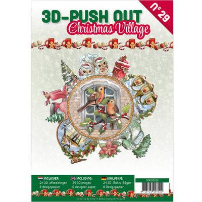 3D Push Out book 29 Christmas Village