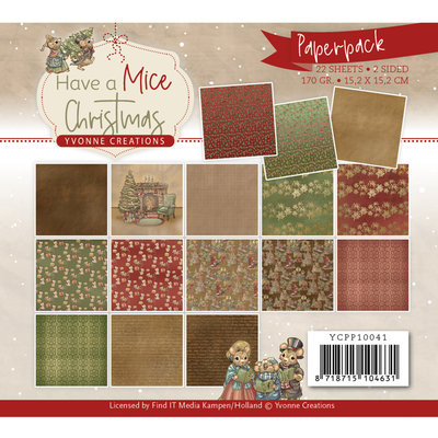 YCPP10041 Paperpack - Yvonne Creations - Have a Mice Christmas