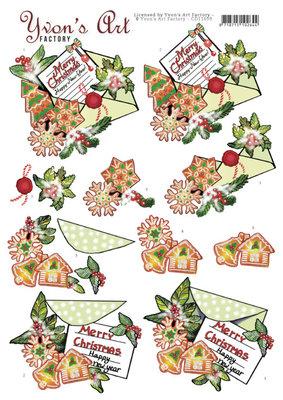 CD11699 3D Cutting Sheet - Yvon's Art -Christmas Mail