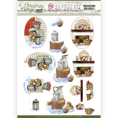 SB10593 3D Push Out - Jeanine's Art - Christmas Cottage - Wood Decorations