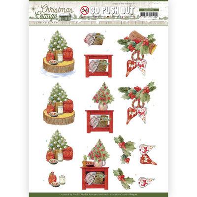 SB10590 3D Push Out - Jeanine's Art - Christmas Cottage - Christmas Decoration