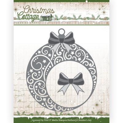 JAD10136 Dies - Jeanine's Art - Christmas Cottage - Christmas Swirls Bauble