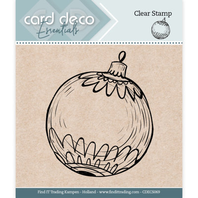 CDECS069 Card Deco Essentials - Clear Stamps - Christmas Ball