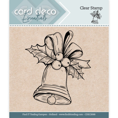 CDECS068 Card Deco Essentials - Clear Stamps - Christmas Bell