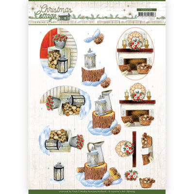 CD11725 3D Cutting Sheet - Jeanine's Art - Christmas Cottage - Wood Decorations