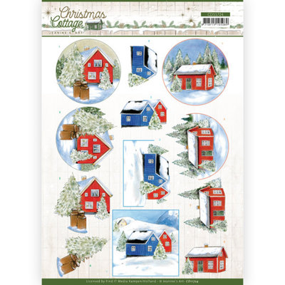 CD11724 3D Cutting Sheet - Jeanine's Art - Christmas Cottage - Winter Cottage