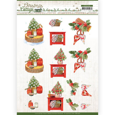 CD11722 3D Cutting Sheet - Jeanine's Art - Christmas Cottage - Christmas Decoration