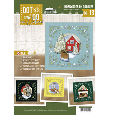 Dot and Do on Colour 13 - Jeanine's Art - Christmas Cottage