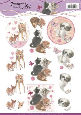 CD11242 3D Cutting Sheet - Jeanine's Art - Playfull Pets