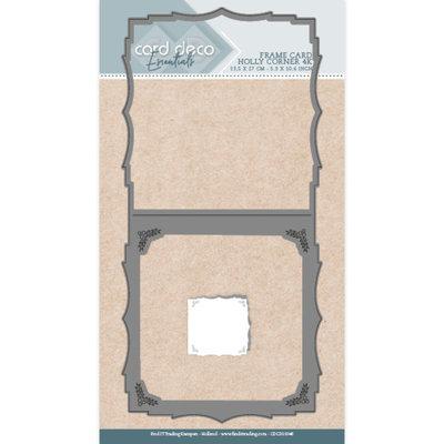 CDCD10048 Card Deco Essentials Dies - Holly Corner 4K