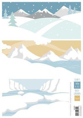 Marianne D Knipvellen Eline's Achtergrond Sneeuw en ijs AK0087 A4 (10-21)