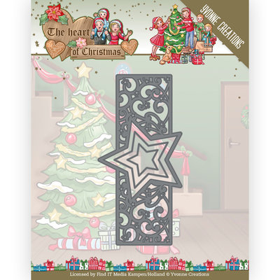 YCD10256 Dies - Yvonne Creations - The Heart of Christmas - Twinkling Border