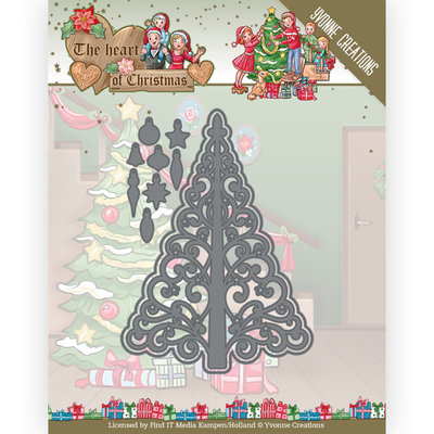 YCD10255 Dies - Yvonne Creations - The Heart of Christmas - Twinkling Tree