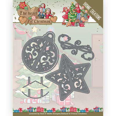 YCD10254 Dies - Yvonne Creations - The Heart of Christmas - Twinkling Decorations