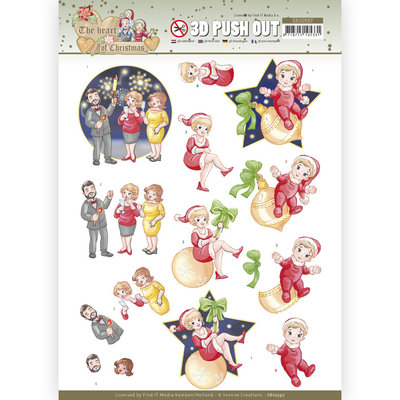 SB10597 3D Push Out - Yvonne Creations - The Heart of Christmas - Fireworks