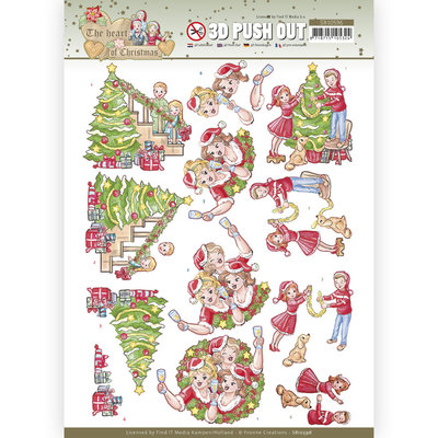 SB10596 3D Push Out - Yvonne Creations - The Heart of Christmas - Celebrations