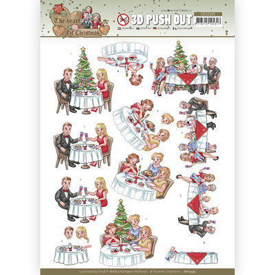 SB10595 3D Push Out - Yvonne Creations - The Heart of Christmas - Dining
