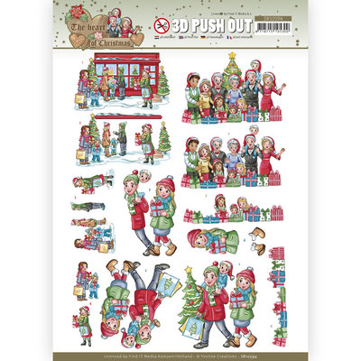 SB10594 3D Push Out - Yvonne Creations - The Heart of Christmas - Shopping