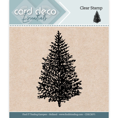 CDECS071 Card Deco Essentials - Clear Stamps - Christmas Tree