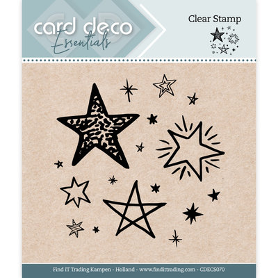 CDECS070 Card Deco Essentials - Clear Stamps - Stars