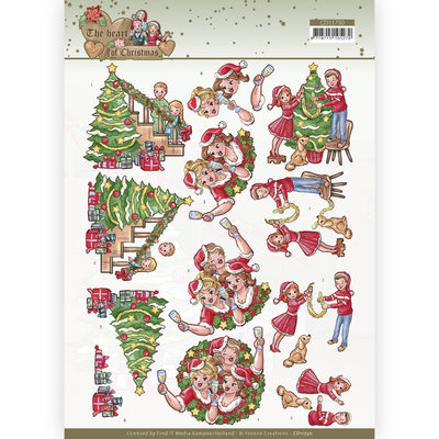 CD11730 3D Cutting Sheet - Yvonne Creations - The Heart of Christmas - Celebrating