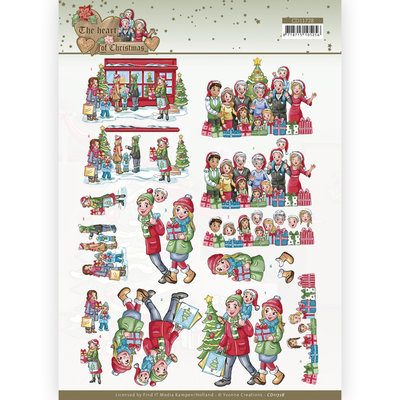 CD11728 3D Cutting Sheet - Yvonne Creations - The Heart of Christmas - Shopping