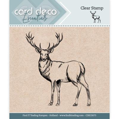 CDECS073 Card Deco Essentials - Clear Stamps - Deer