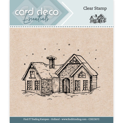 CDECS072 Card Deco Essentials - Clear Stamps - Snow House