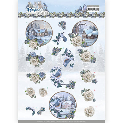 CD11738 3D Cutting Sheet - Amy Design - Awesome Winter - Winter Village