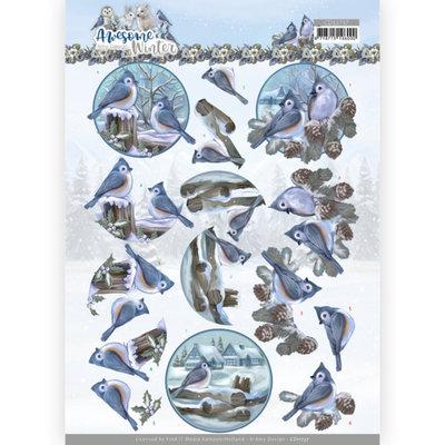 CD11737 3D Cutting Sheet - Amy Design - Awesome Winter - Winter Birds