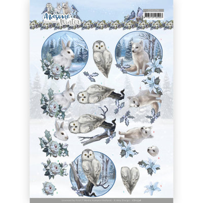 CD11736 3D Cutting Sheet - Amy Design - Awesome Winter - Winter Animals