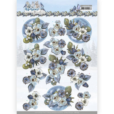 CD11735 3D Cutting Sheet - Amy Design - Awesome Winter - Winter Flowers