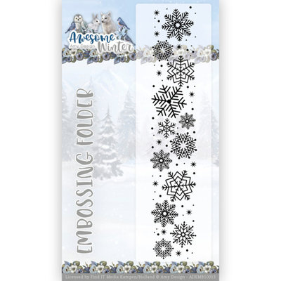 ADEMB10013 Embossing Folder - Amy Design - Awesome Winter