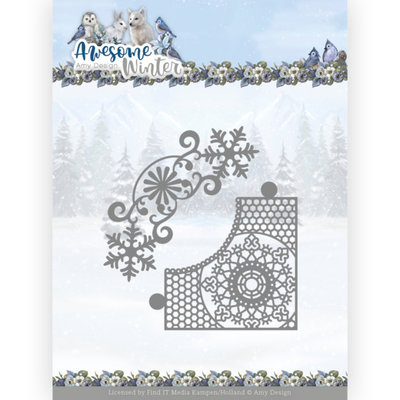 ADD10258 Dies - Amy Design - Awesome Winter - Winter Lace Corner